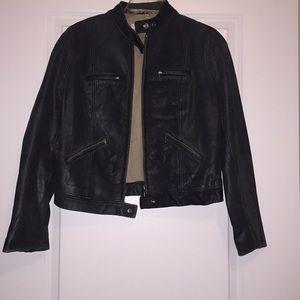 J crew black worn jacket